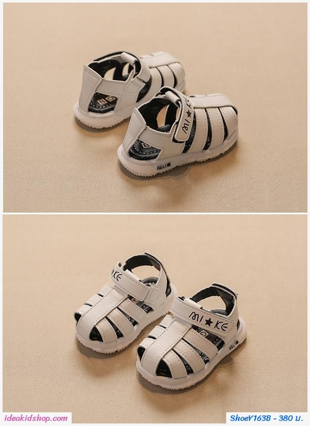 รองเท้ารัดส้นสไตล์สกอลล์ Relix สีขาว