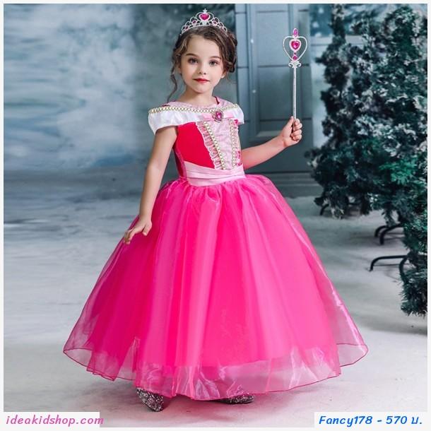ชุดเจ้าหญิงออโรร่า Aurora รุ่น Luxury สีชมพู