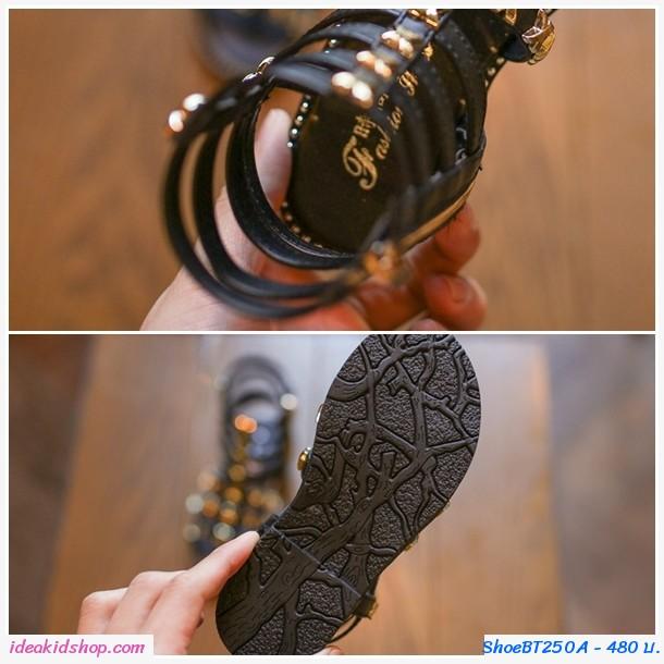 รองเท้าสาน มินิ Gladiator  สีดำ