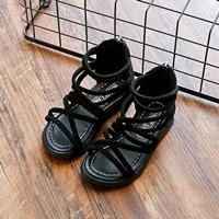 รองเท้าหุ้มข้อสไตล์โบฮีเมียนซิปหลัง-สีดำ