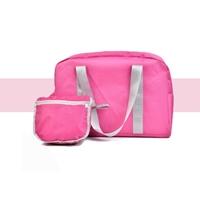 Bag-in-Bag-กระเป๋าเดินทางพับเก็บได้-Travel-สีชมพู