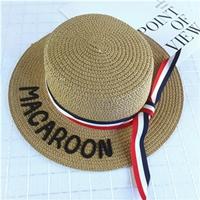 หมวกสานเด็ก-ปีกรอบ-MACAROON-สีน้ำตาล