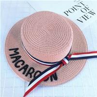หมวกสานเด็ก-ปีกรอบ-MACAROON-สีชมพู