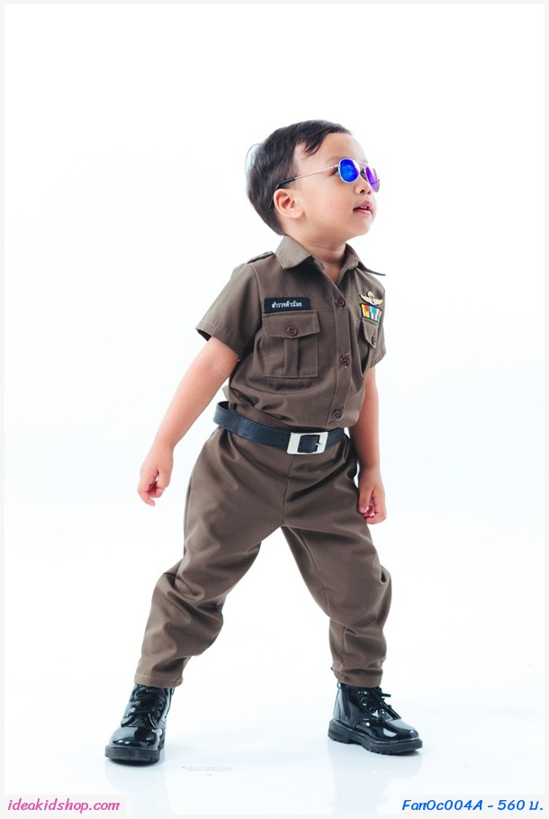 ชุดอาชีพ ตำรวจตัวจิ๋ว ผู้ชาย(เซต 3 ชิ้น)