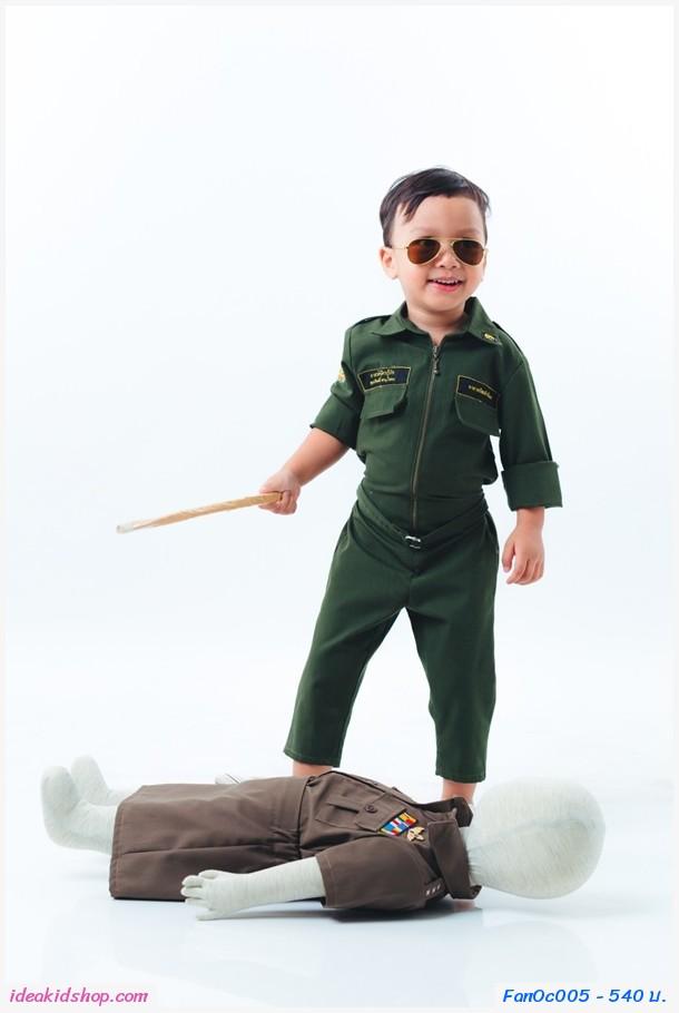 ชุดอาชีพเด็ก อาสากู้ภัยตัวจิ๋ว สีเขียว