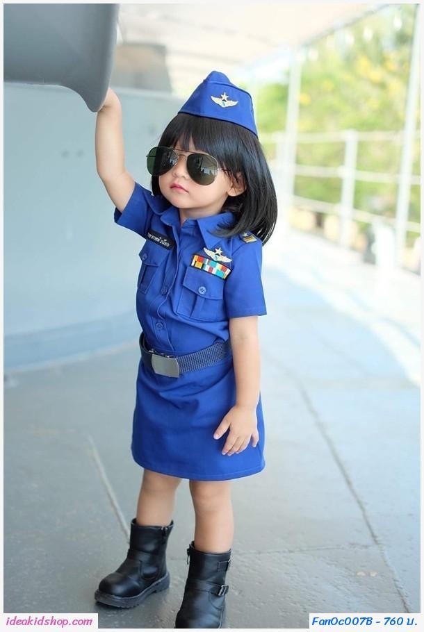 ชุดอาชีพ ทหารอากาศตัวจิ๋ว ผู้หญิง(เซต 4 ชิ้น)