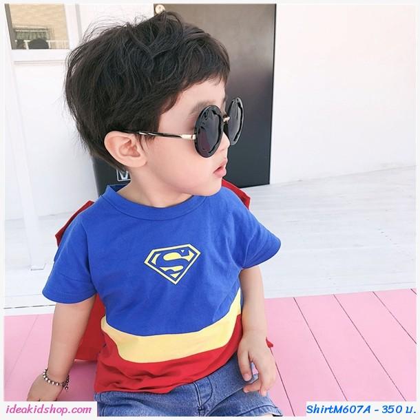 เสื้อยืดแฟชั่นหนูน้อย Superman ติดปีก