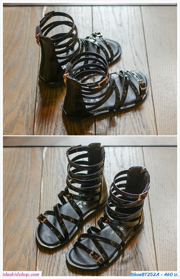 รองเท้าสาน Smart Gladiator สีดำ