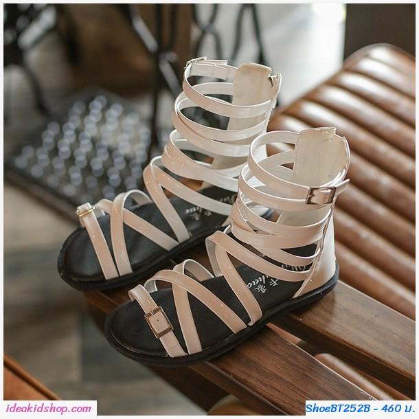 รองเท้าสาน Smart Gladiator สีขาว