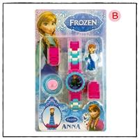 นาฬิกาเลโก้ตัวการ์ตูน-ลาย-Frozen-Anna