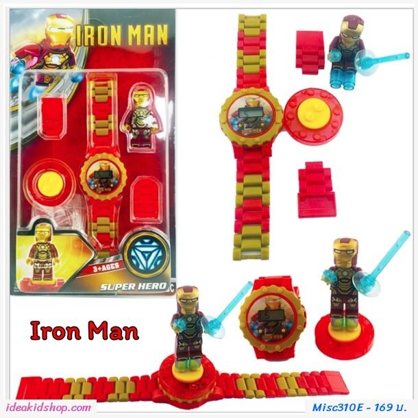 นาฬิกาเลโก้ตัวการ์ตูน ลาย Iron Man