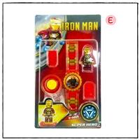 นาฬิกาเลโก้ตัวการ์ตูน-ลาย-Iron-Man