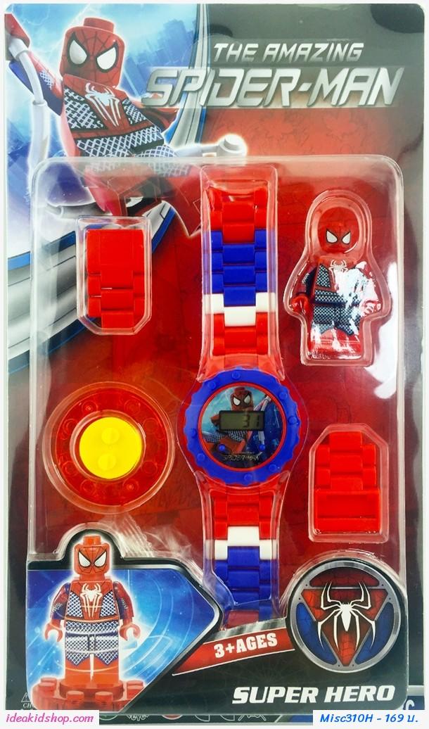 นาฬิกาเลโก้ตัวการ์ตูน ลาย Spider Man