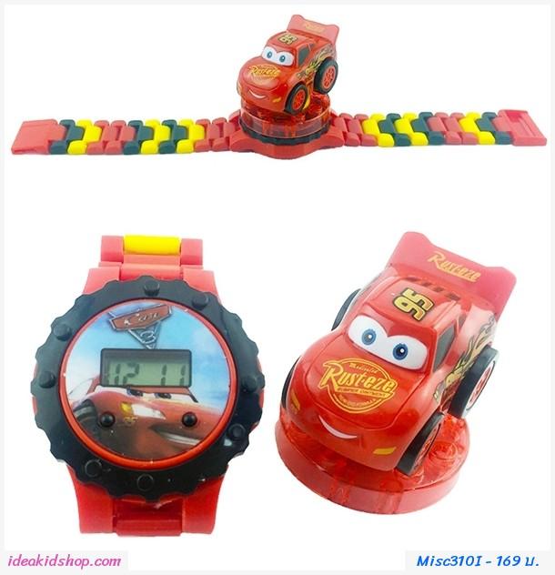 นาฬิกาเลโก้ตัวการ์ตูน ลาย Cars McQueen