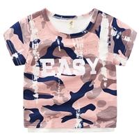 เสื้อยืดแฟชั่นลายทหาร-EASY-สีชมพู