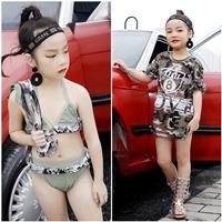 ชุดว่ายน้ำทูพีช_เสื้อคลุม-Love-ทหาร(ได้-4-ชิ้น)