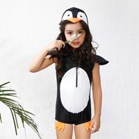 ชุดว่ายน้ำวันพีช-มีฮู้ด-เพนกวินน้อย-สีดำ