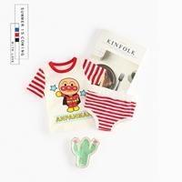 ชุดเสื้อกางเกง-Stripe-Shirt-_-Short-Anpanman-สีแดง