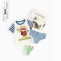 เสื้อกางเกง-Stripe-Shirt-_-Short-Anpanman-น้ำเงิน