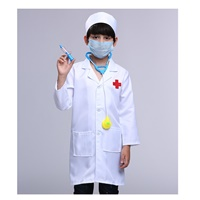 ชุดอาชีพเด็ก-เสื้อกาวน์คุณหมอยาว-สีขาว(เซต-5-ชิ้น)