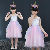 ชุดเดรสออกงาน-Unicorn-Pony-Princess-สีชมพู