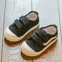 รองเท้าผ้าใบแต่งแถบคาดแฟชั่น-สีดำ