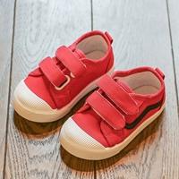 รองเท้าผ้าใบแต่งแถบคาดแฟชั่น-สีแดง