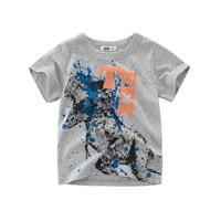 เสื้อยืดสุดเท่-Dino-TRex-สุดโหด-สีเทา