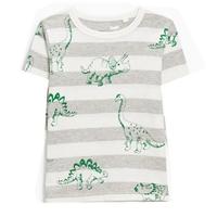 เสื้อยืดแฟชั่นเด็ก-ไดโนเสาร์-ลายทาง-สีเทาขาว