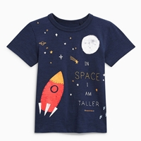เสื้อยืดเด็กหนูน้อยดิม-IN-SPACE-I-AM-TALLER-สีกรม