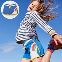 กางเกงวอร์มขาสั้นสุดเก๋-ลายสายรุ้ง-สีน้ำเงิน