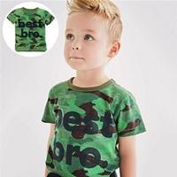 เสื้อยืดเด็กลายทหารแฟชั่น-Best-Bro-สีเขียว