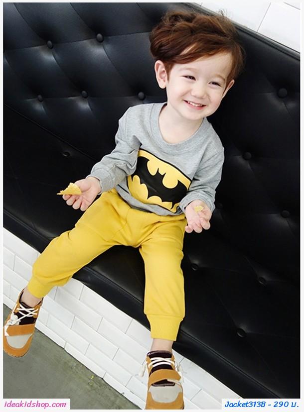 เสื้อกันหนาวแฟชั่นยอดมนุษย์ Batman สีเทา