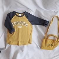 เสื้อแขนยาวทูโทนแฟชั่น-FOREVER-YOUNG-สีเหลือง