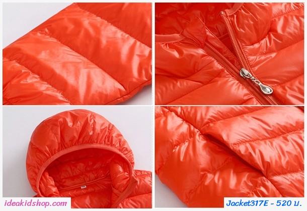 เสื้อคลุมแขนยาวมีฮู้ด สไตล์ยูนิโคล่ สีแดง
