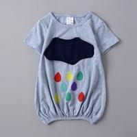 เสื้อตัวยาวแฟชั่น-ลายก้อนเมฆกับฝน-สีเทา