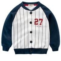 เสื้อคลุมแขนยาวเด็กสไตล์นักเบสบอล-27-ลายทาง-สีกรม
