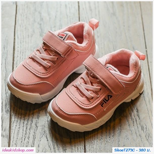 รองเท้าผ้าใบแฟชั่นสปอร์ต FILA สีชมพู