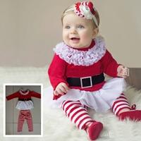 ชุดเสื้อกางเกงสาวน้อยซานตี้-Xmas-ลายทาง-สีแดง