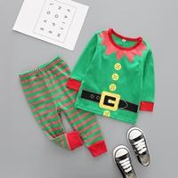 ชุดเสื้อกางเกง-Xmas-พ่อบ้านเอลฟ์-Santa-สีเขียว