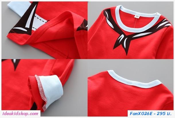 ชุดเสื้อกางเกง Xmas ชุดซานต้า สีแดง