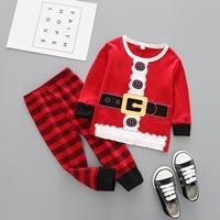 ชุดเสื้อกางเกง-Xmas-ชุดซานต้า-สีแดง