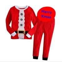 ชุดเสื้อกางเกง-Xmas-Santa-รัดเข็มขัด-สีแดง