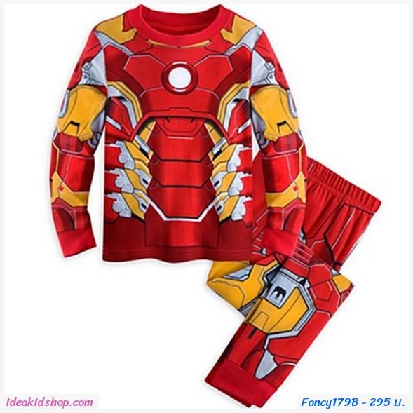 ชุดเสื้อกางเกงลาย Iron Man สีแดง
