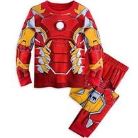 ชุดเสื้อกางเกงลาย-Iron-Man-สีแดง