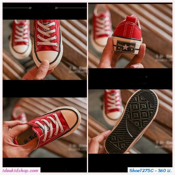 รองเท้าผ้าใบหุ้มส้นสไตล์ Converse JP Star สีแดง