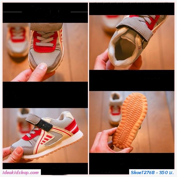 รองเท้าผ้าใบสปอร์ต สีเทา