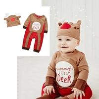 บอดี้สูทแขนยาวพร้อมหมวก-Xmas-Little-Deer-สีน้ำตาล