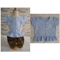 เสื้อลูกไม้เด็ก-รุ่นแมท-ภีรนีย์-สีฟ้า