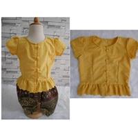 เสื้อลูกไม้เด็ก-รุ่นแมท-ภีรนีย์-สีเหลือง